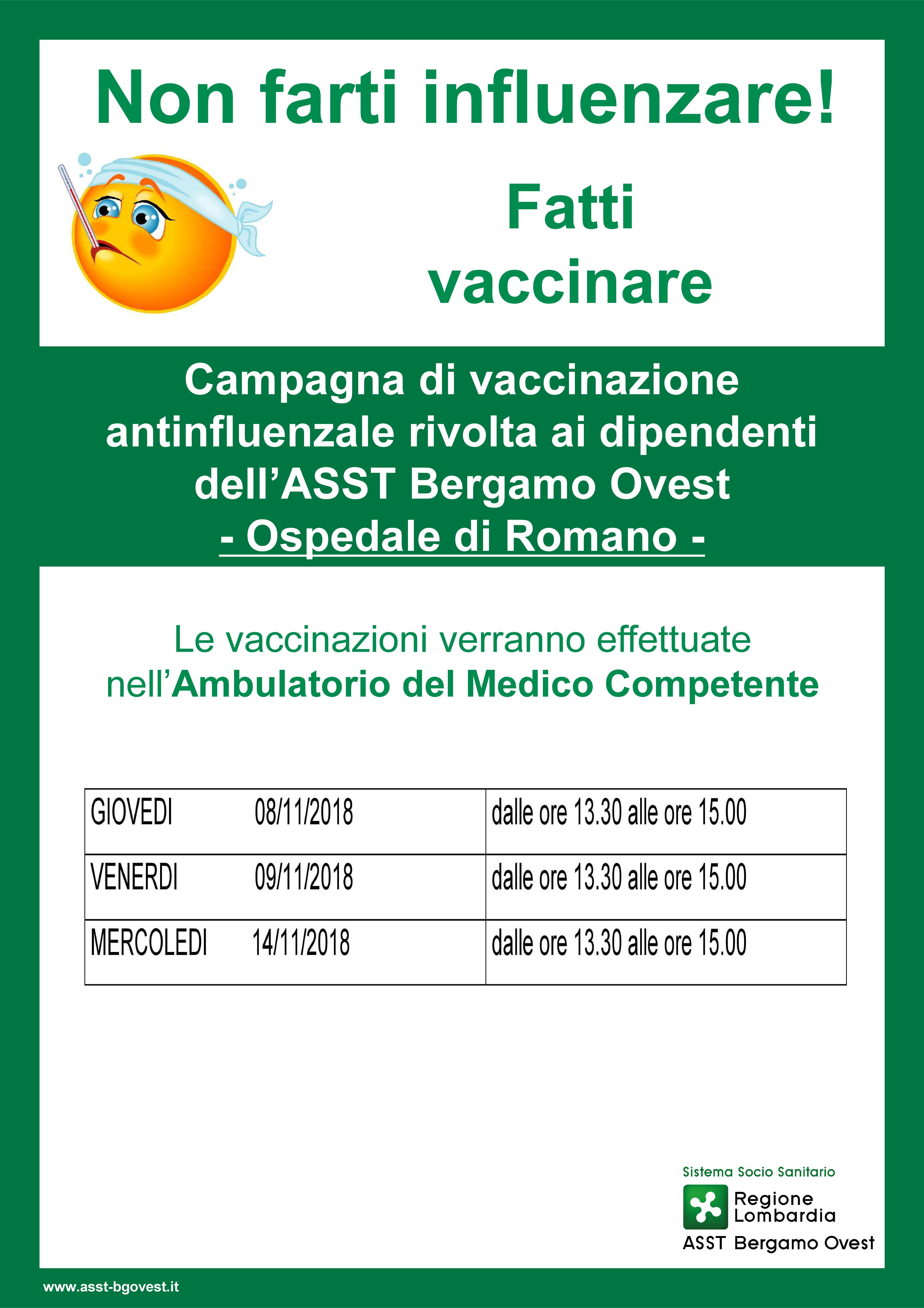 Calendario Vaccinazioni Lombardia.Campagna Antinfluenzale